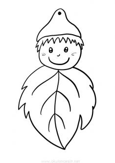 Yaprak Kalıbı ve Boyama Sayfası