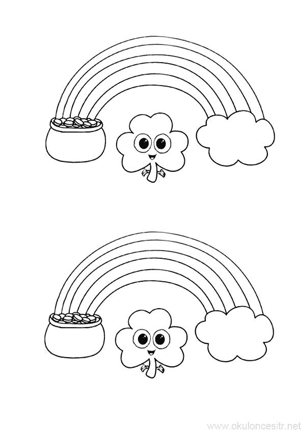 Bulut Boyama Sayfasi Okuloncesitr Preschool