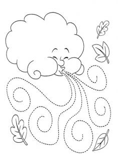 Yagmur Bulut Boyama Sayfasi Okuloncesitr Preschool