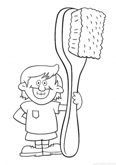 Diş Etkinliği Boyama Sayfası