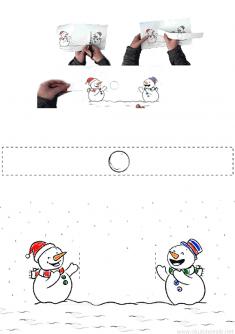 Kartopu Oynayan Kardan Adam Kalıbı