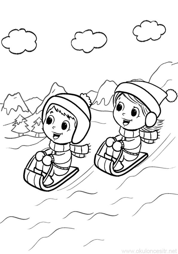 Kis Mevsimi Boyama Sayfasi Okuloncesitr Preschool