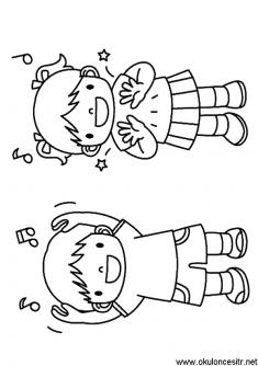 Erkek Cocuk Boyama Sayfasi Okuloncesitr Preschool