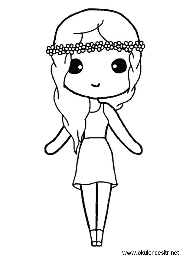 Kız Boyama Sayfası