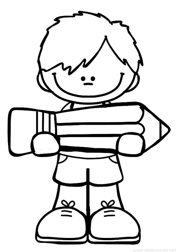 Kalem Tutan Erkek Boyama Sayfasi Okuloncesitr Preschool