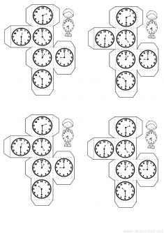 Saat Bileklik Kalibi Okuloncesitr Preschool