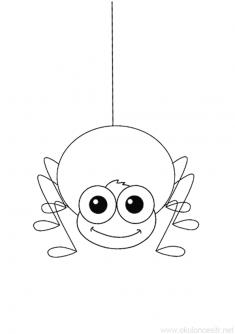 Örümcek Boyama Sayfası