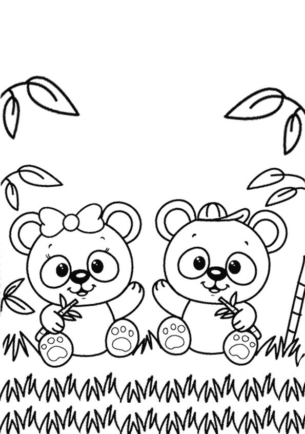 Panda Boyama Sayfasi Okuloncesitr Preschool