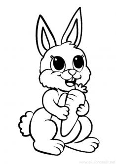 Tavşan Boyama Sayfası