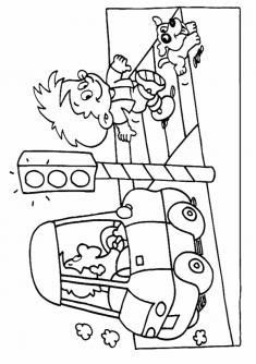 Trafik Haftası Boyama Sayfası