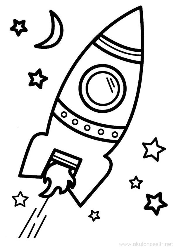 Uzay Mekigi Boyama Sayfasi Okuloncesitr Preschool