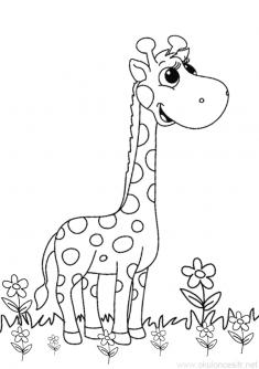 Zürafa Boyama Sayfası