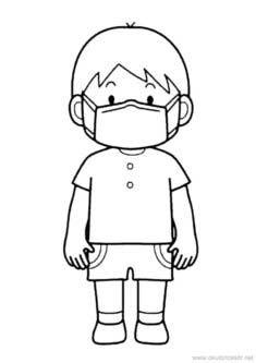 Maskeli Erkek Boyama Sayfası