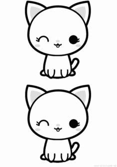 Kedi Boyama Sayfası