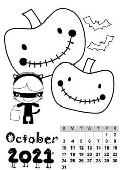 2021 Calendar Mold Free Printable