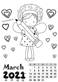2021 Girl Calendar Mold