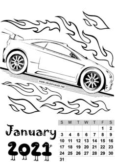 2021 Male Calendar Mold