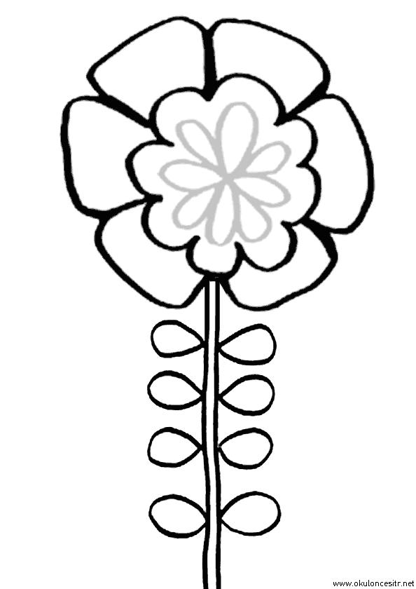 Çiçek Boyama Sayfası