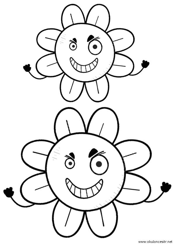 Çılgın Çiçek Boyama Sayfası