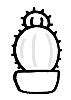 kaktus11-boyama-sayfasi