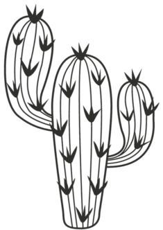 kaktus14-boyama-sayfasi