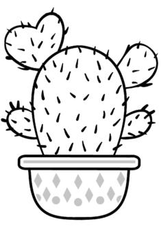 kaktus2-boyama-sayfasi