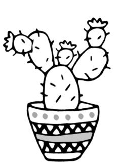 kaktus4-boyama-sayfasi