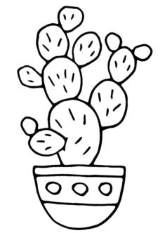 kaktus6-boyama-sayfasi
