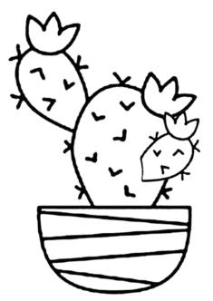 kaktus8-boyama-sayfasi