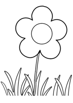 tekcicek1-boyama-sayfasi