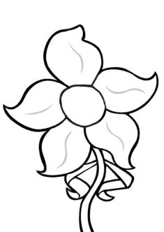 tekcicek10-boyama-sayfasi