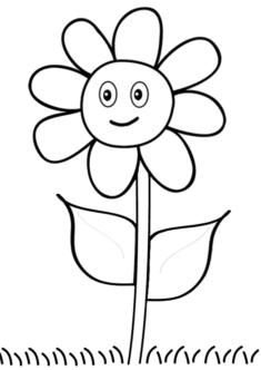 tekcicek14-boyama-sayfasi