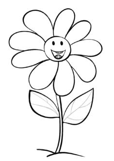 tekcicek2-boyama-sayfasi