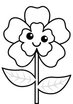 tekcicek4-boyama-sayfasi