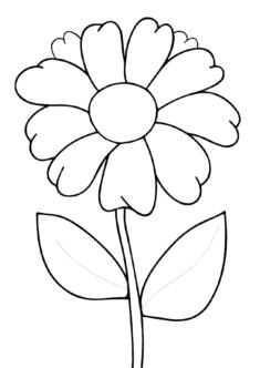 tekcicek5-boyama-sayfasi