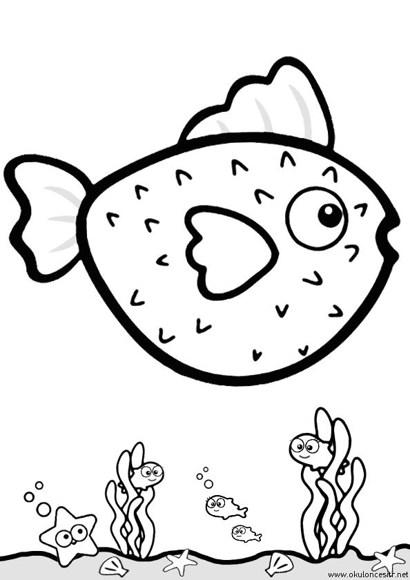 Balon Balığı Boyama