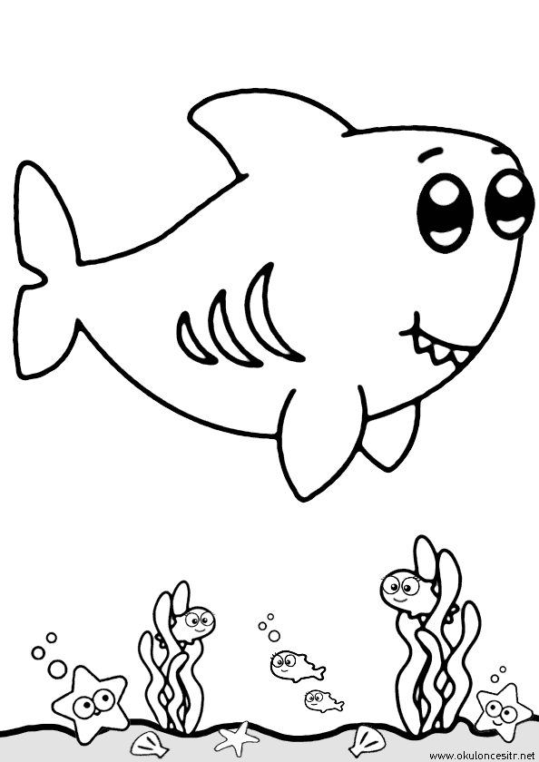 Köpek Balığı Boyama